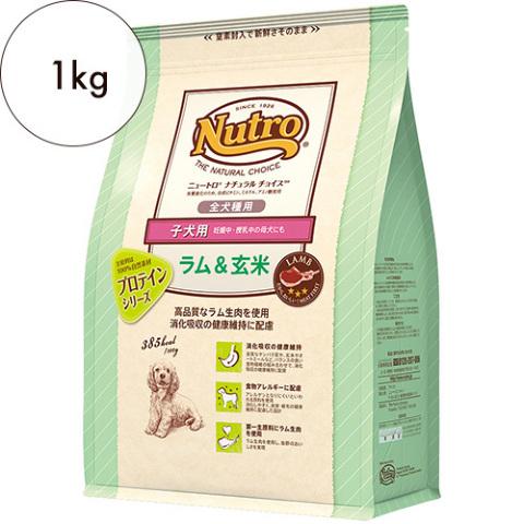 ニュートロ ナチュラルチョイス【全犬種用】子犬用 ラム&玄米 1kg