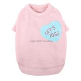 ルイスドッグ【louisdog】Organic Heart Tee Pink