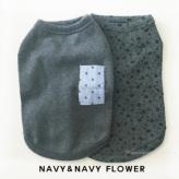 ルイスドッグ【louisdog】My Dog's Organic Navy/Navy Flowers