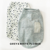 ルイスドッグ【louisdog】My Dog's Organic Grey/White Flowers