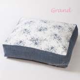 ルイスドッグ【louisdog】Linen Cushion Grand-White Flowers