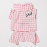 ルイスドッグ【louisdog】Organic Pajama Pink Check