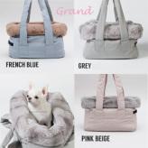 ルイスドッグ【louisdog】Viva Bag/Fur Grand-Grey/Pink Beige/French Blu