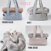 ルイスドッグ【louisdog】Viva Bag/Fur Petit-Grey/Pink Beige/French Blue
