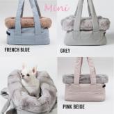 ルイスドッグ【louisdog】Viva Bag/Fur Mini-Grey/Pink Beige/French Blue