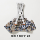 ルイスドッグ【louisdog】Egyptian Cotton Pants Beige&Blue Plaid
