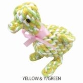 歯みがきTOY DENTAL ROPE DUCK YELLOW&Y/GREEN