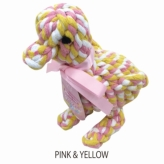 歯みがきTOY DENTAL ROPE DUCK PINK&YELLOW