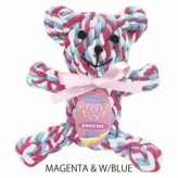 歯みがきTOY DENTAL ROPE BEAR MAGENTA&W/BLUE