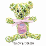 歯みがきTOY DENTAL ROPE BEAR YELLOW&Y/GREEN