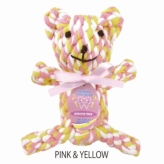 歯みがきTOY DENTAL ROPE BEAR PINK&YELLOW