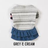 ルイスドッグ【louisdog】Sweet Frills Grey&Cream