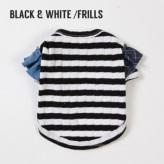 ルイスドッグ【louisdog】Sweet 5 Tee Black&White/Frills