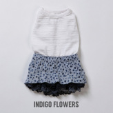 ルイスドッグ【louisdog】Volume up Dress Indigo Flowers