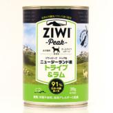 ZiwiPeak(ジウィピーク)ドッグ缶 トライプ&ラム 390g×12缶セット