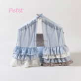 ルイスドッグ【louisdog】Peekaboo/Privacy Plz Petit-Blue Linen