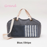 ルイスドッグ【louisdog】Tote Bag/Linen Grand-Blue/Stripes