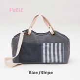 ルイスドッグ【louisdog】Tote Bag/Linen Petit-Blue/Stripes