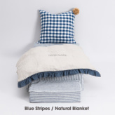 ルイスドッグ【louisdog】Heavenly Bed Blue Stripes/Natural Blanket