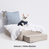 ルイスドッグ【louisdog】Heavenly Bed Natural/White Blanket