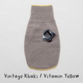 ルイスドッグ【louisdog】Cashmere Blend Sweater Vintage Khaki/Vitamin Yellow