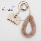 ルイスドッグ【louisdog】Fur Strap & Harness Natural