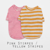 ルイスドッグ【louisdog】Duo Tee-Pink Stripes/Yellow Stripes