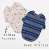 ルイスドッグ【louisdog】Duo Tee-Blue Stripes/Oatmeal Flowers
