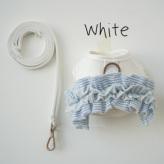 ルイスドッグ【louisdog】Organic Harness Set/Frills White