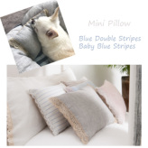 ルイスドッグ【louisdog】Mini Pillow Blue Double Stripes/Baby Blue Stripes