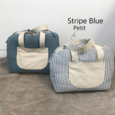 ルイスドッグ【louisdog】Linenaround Bag Petit-Stripe Blue