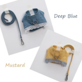 ルイスドッグ【louisdog】Linen Harness Set Deep Blue/Mustard