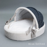 ルイスドッグ【louisdog】Irish Linen Cradle Blue Dotted