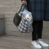 ルイスドッグ【louisdog】Furaround Bag/Check Petit-White/Grey Plaid
