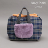 ルイスドッグ【louisdog】Furaround Bag/Check Grand-Navy Plaid