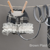 ルイスドッグ【louisdog】Egyptian Cotton Harness Set/Check Brown Plaid