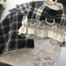 ルイスドッグ【louisdog】Egyptian Cotton Harness Set/Check Brown Plaid