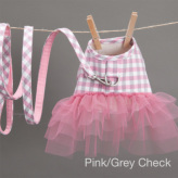 ルイスドッグ【louisdog】Egyptian Cotton Harness Set/Check Pink/Grey Check