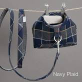 ルイスドッグ【louisdog】Egyptian Cotton Harness Set/Check Navy Plaid