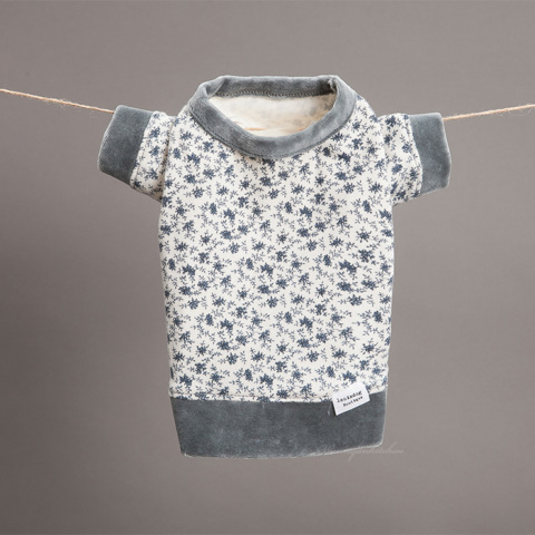 ルイスドッグ【louisdog】Playful Tee Navy Flowers