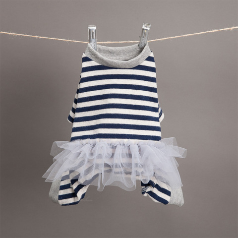 ルイスドッグ【louisdog】Sleepyhead TUTU Romper Navy Stripes
