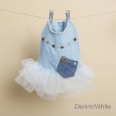 ルイスドッグ【louisdog】Studded Couture Denim/White TUTU