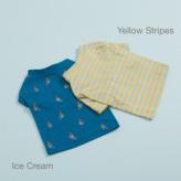 ルイスドッグ【louisdog】Tee n Sleeveless Ice Cream/Yellow Stripes