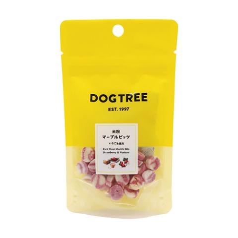DOG TREE 国産・無添加 米粉マーブルビッツ いちご&鹿肉