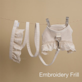 ルイスドッグ【louisdog】Ecru Linen Harness Set Embroidery Frill