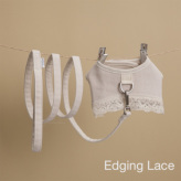 ルイスドッグ【louisdog】Ecru Linen Harness Set Edging Lace