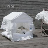 ルイスドッグ【louisdog】Peekaboo/White Cabana Petit
