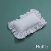 ルイスドッグ【louisdog】Vintage Floral Ruffle Pillow