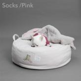 ルイスドッグ【louisdog】Applique Organic Cushion/Socks/Pink Beige