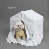 ルイスドッグ【louisdog】Applique Organic Peekaboo/Oxford Grand-Egg/Light Grey